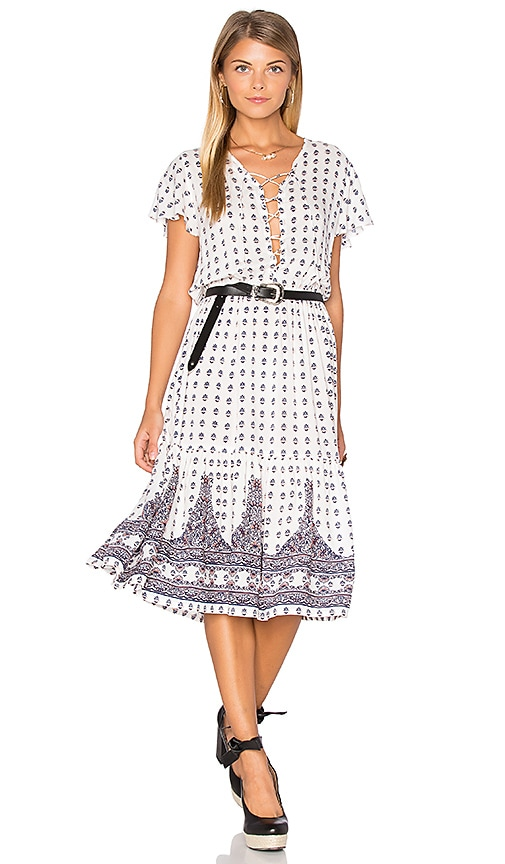 AUGUSTE Gypsy Girl Day Dress in White