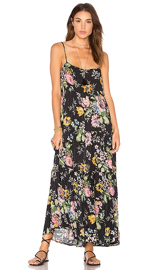 AUGUSTE Delilah Slip Maxi Dress in Black
