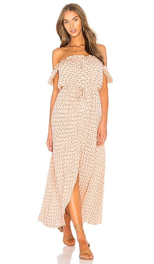 AUGUSTE Leila Button Down Day Dress in Pink