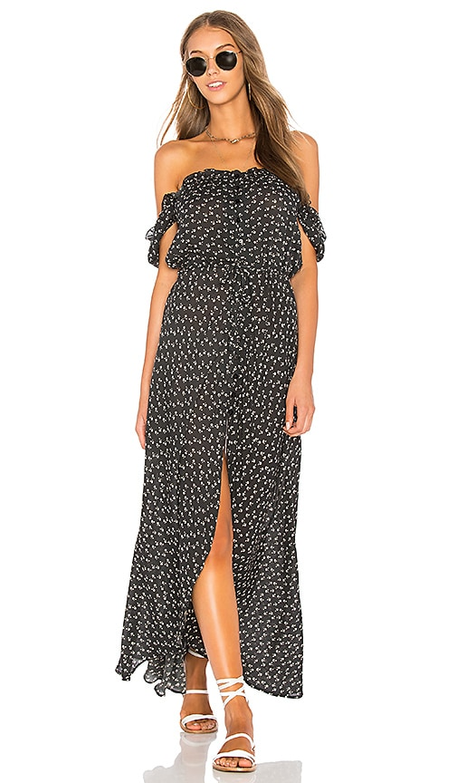 AUGUSTE Leila Button Down Day Dress in Black