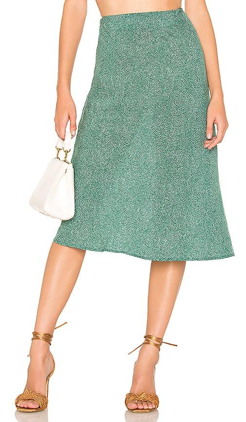 Diamond Bias Midi Skirt
