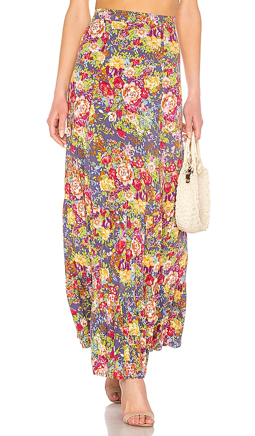 Magnolia Violet Maxi Skirt