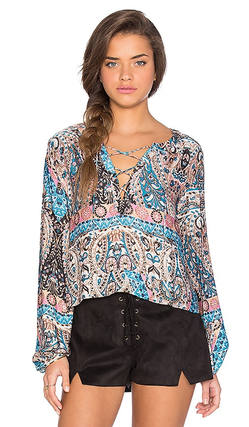 AUGUSTE Gypset Top in Blue
