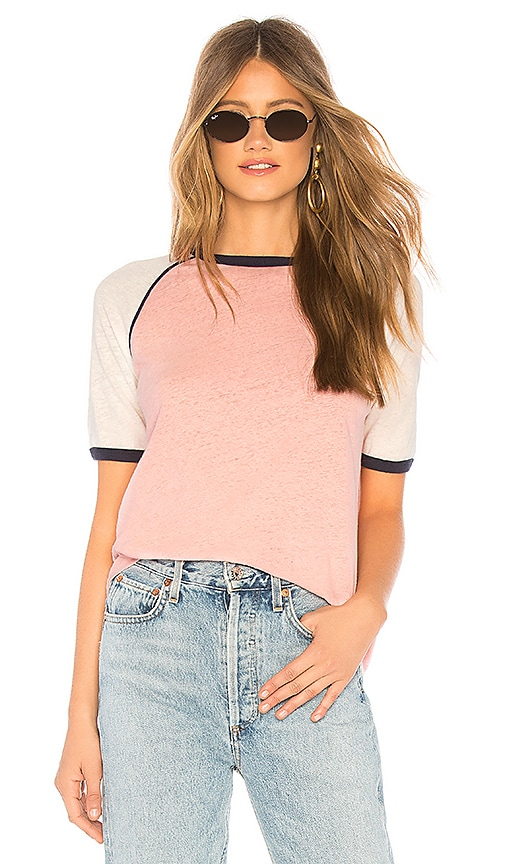AUGUSTE Charlie Ringer Tee in Dusty Pink | REVOLVE