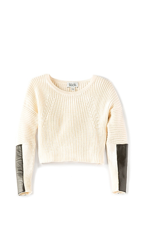 Autumn Cashmere Kids Crop Sweater in Beige