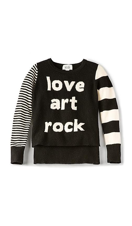 Autumn Cashmere Kids Love Art Rock High Low Sweater in Black