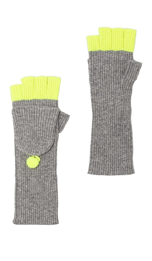 2 Tone Convertible Fingerless Gloves