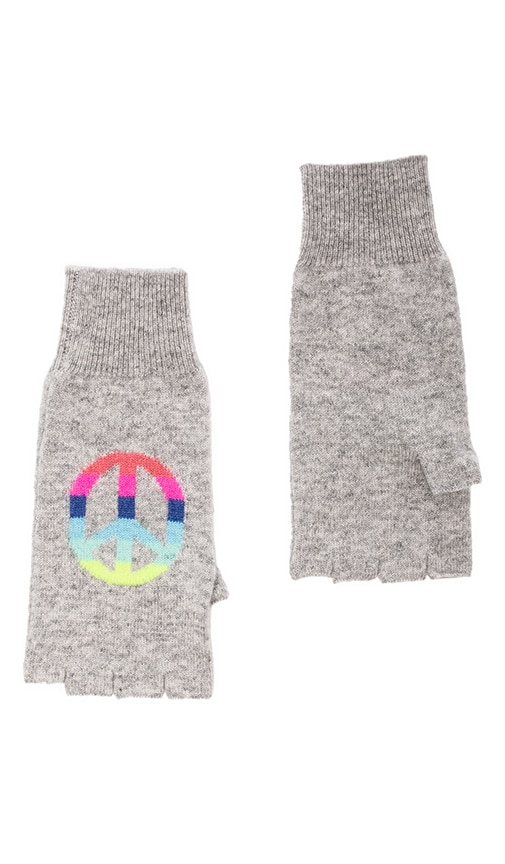 Rainbow Peace Fingerless Gloves