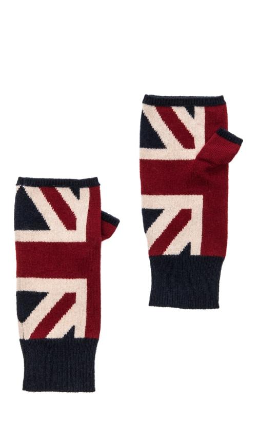 Union Jack Fingerless Gloves