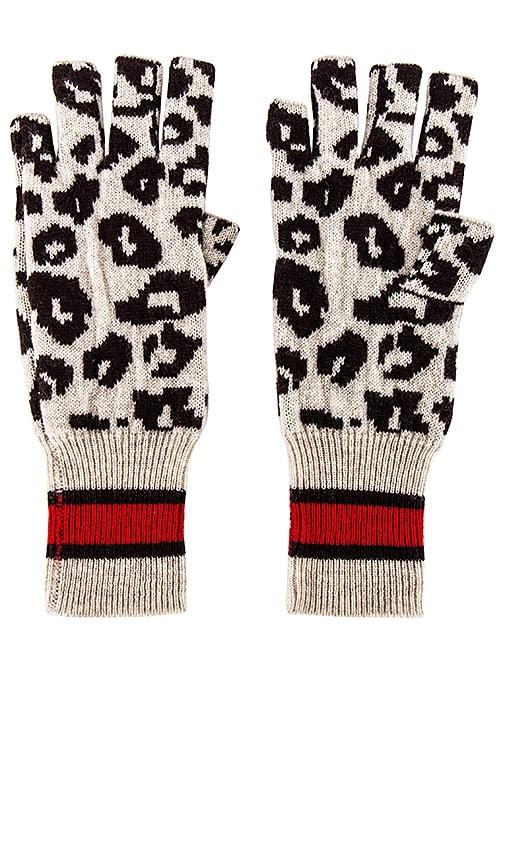 Sporty Athletic Leopard Fingerless Gloves