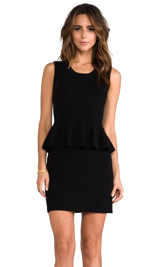 Sleeveless Peplum Patent Dress