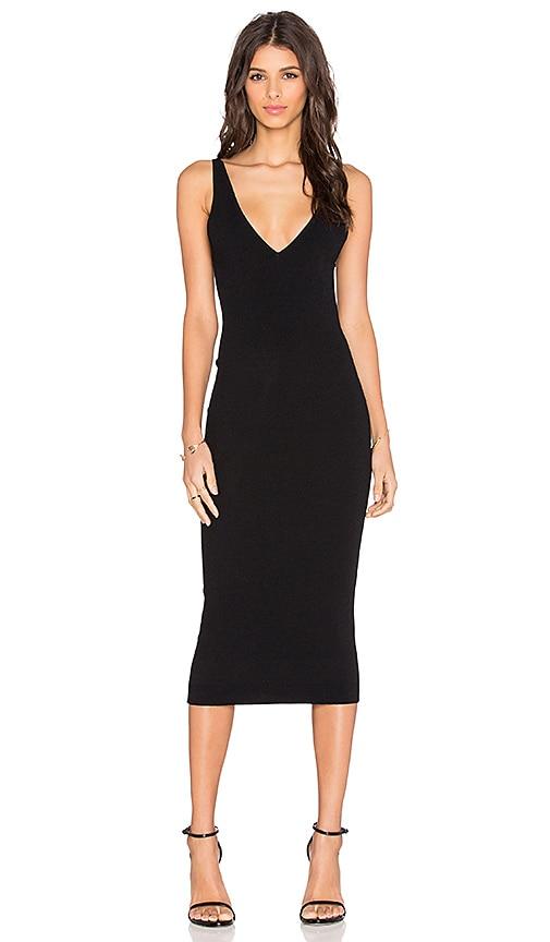 Double V Bodycon Dress