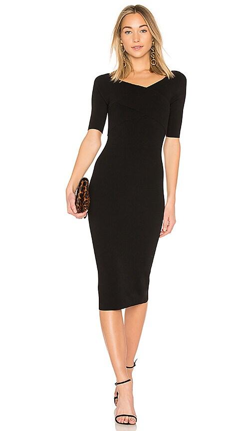Autumn Cashmere Bodycon Dress in Black