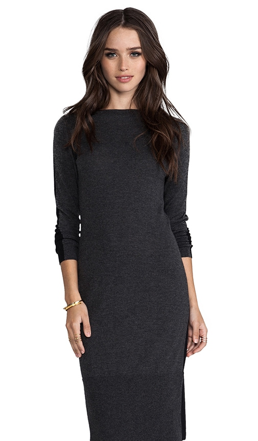 Tissue Cashmere Color Block Boatneck Dress
