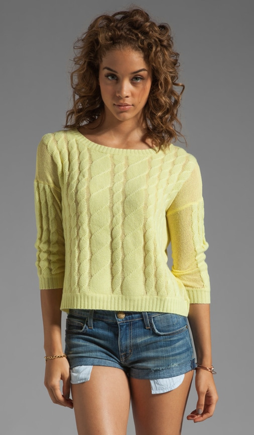 Sheer Cable Pullover