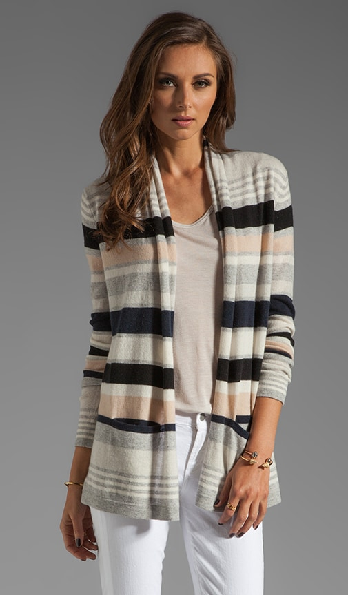 Multi Stripe Drape Sweater