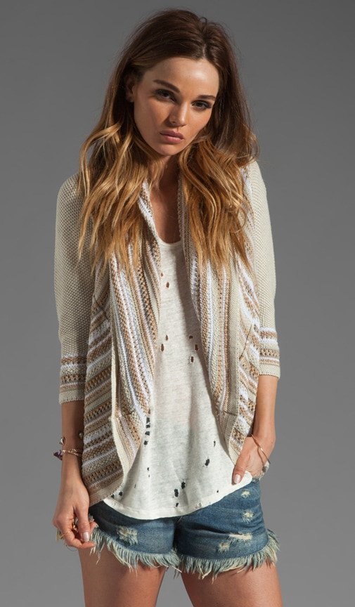 Multi Stitch Drape Sweater