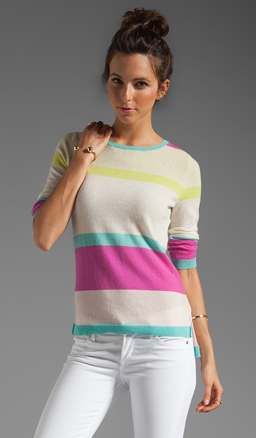 Stripe Hi Lo Sweater