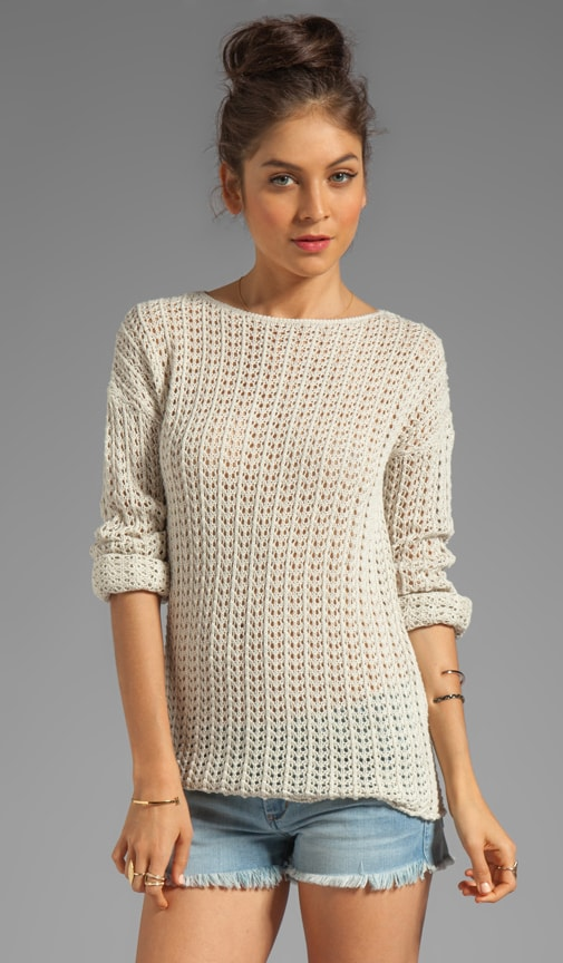 Long Sleeve Open Stitch Sweater