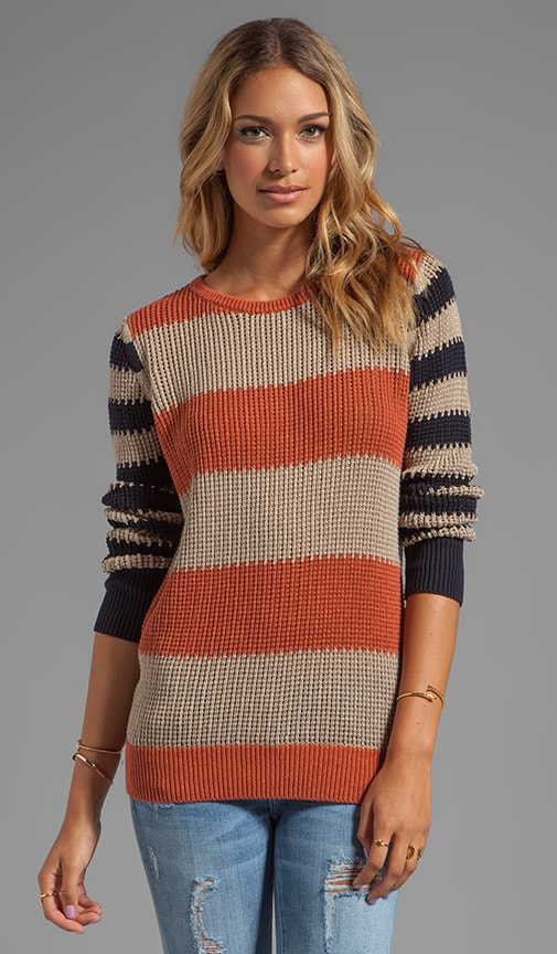 Rubgy Stripe Crew Sweater