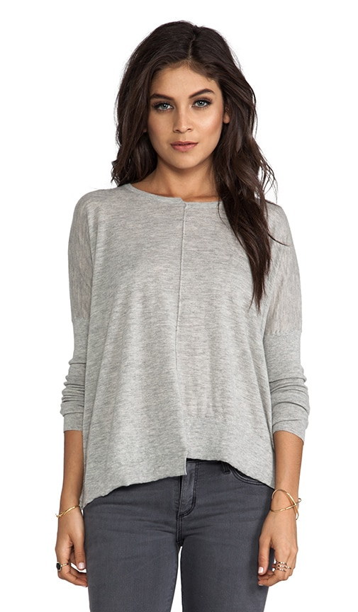 Tissue Cashmere Crew With Uneven Rib Sweater