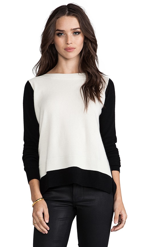 2-Tone Layered Boatneck Sweater