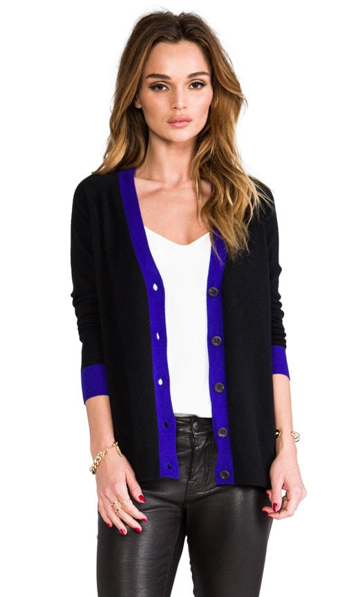 2-Tone Button Back Cardigan