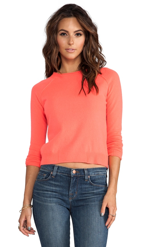 Raw Edge Crop Sweater
