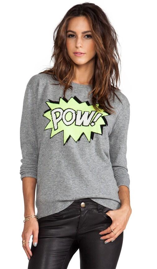 POW Intarsia Boyfriend Crew Sweater