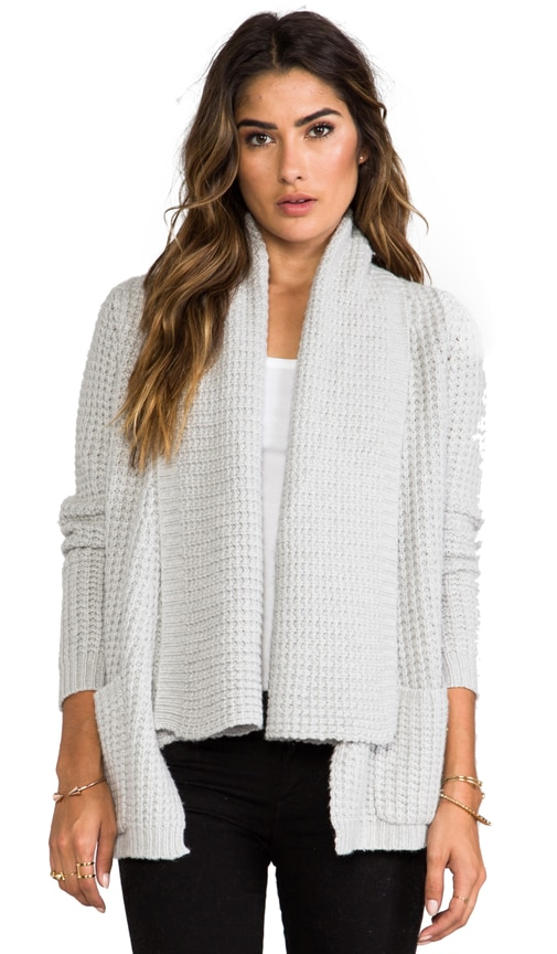 Textured Drape Cardigan with Pockets