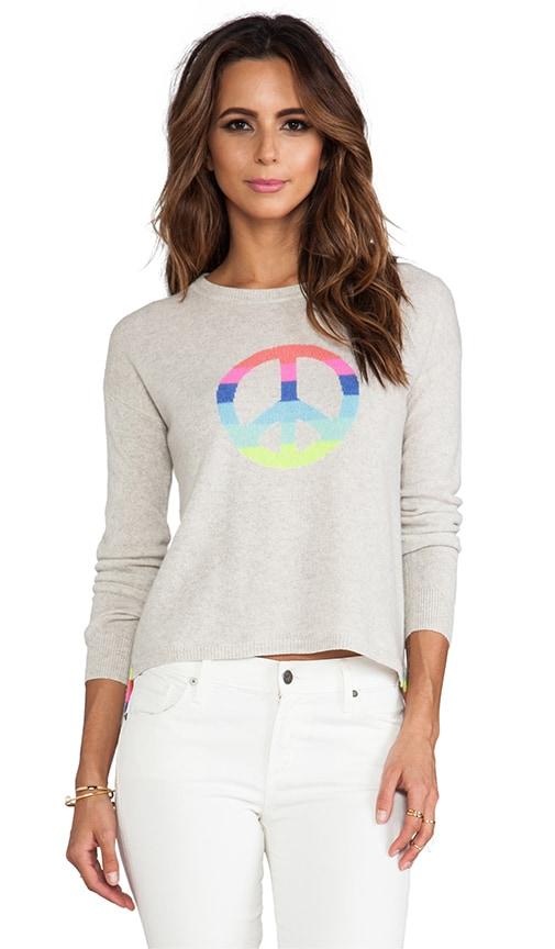 Hi Lo Rainbow Peace Pullover
