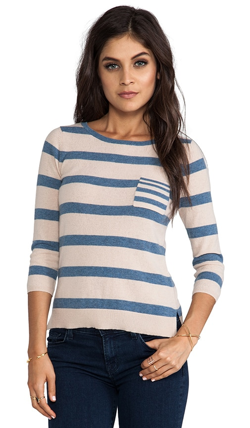 3/4 Sleeve Striped Sweater