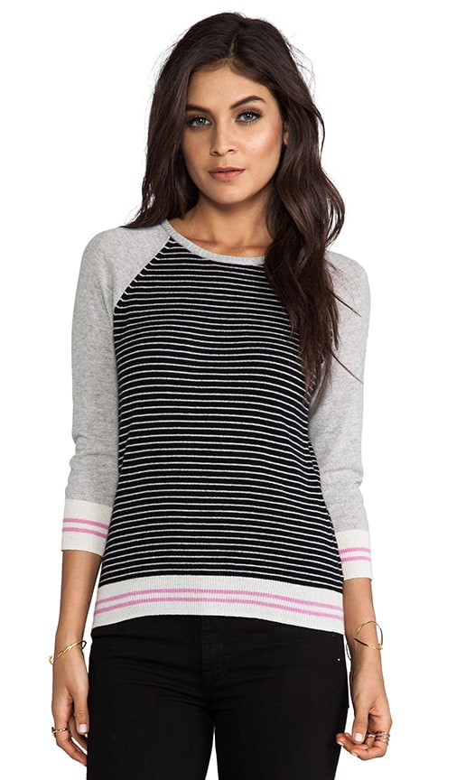 Striped Zip Back Sweater