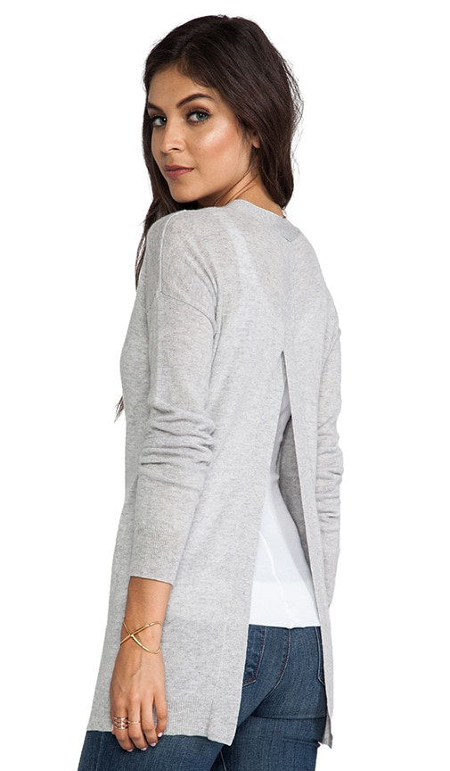 Hi Lo Open Back Boyfriend Cardigan