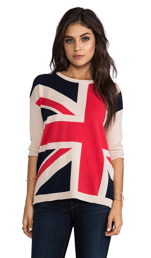 British Hi Low Boxy Sweater