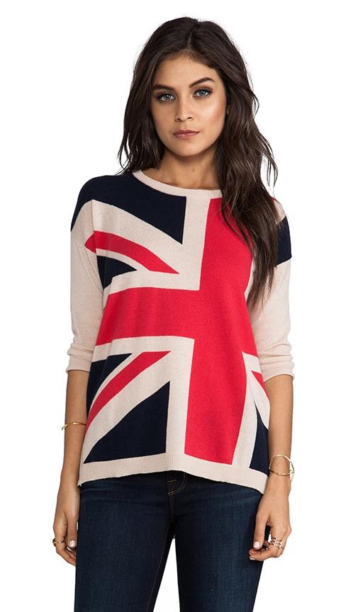 British Hi Low Boxy Sweater