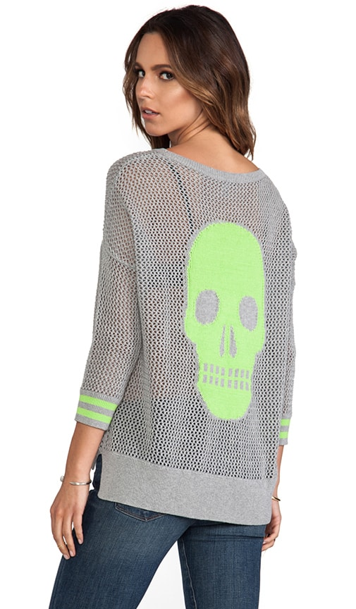 Mesh Skull Sweater