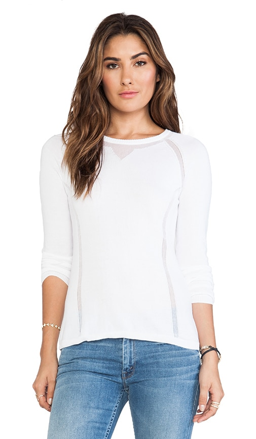 Sheer Athletic Crew Neck Sweater
