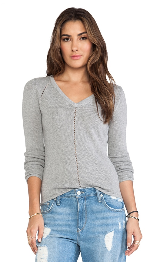 V Neck Zig Zag Back Sweater