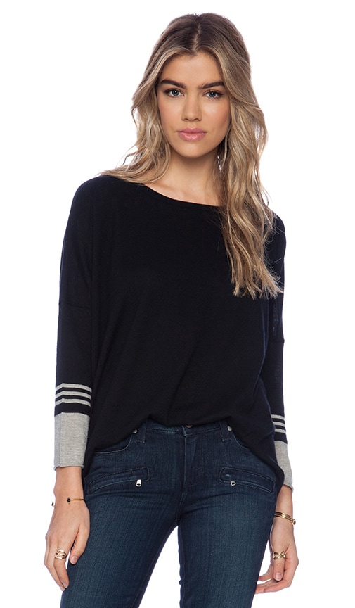 Boxy Striped Sleeve Sweater