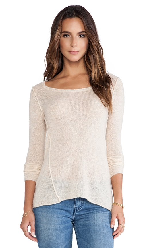 Twist Seam Scoop Sweater