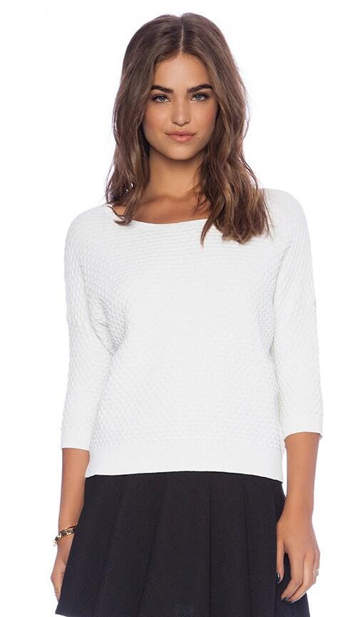 Bubble Stitch Boxy Crop Sweater
