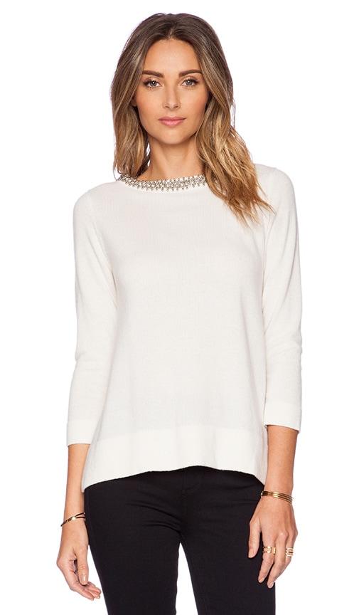 Jeweled Neck Trapeze Sweater
