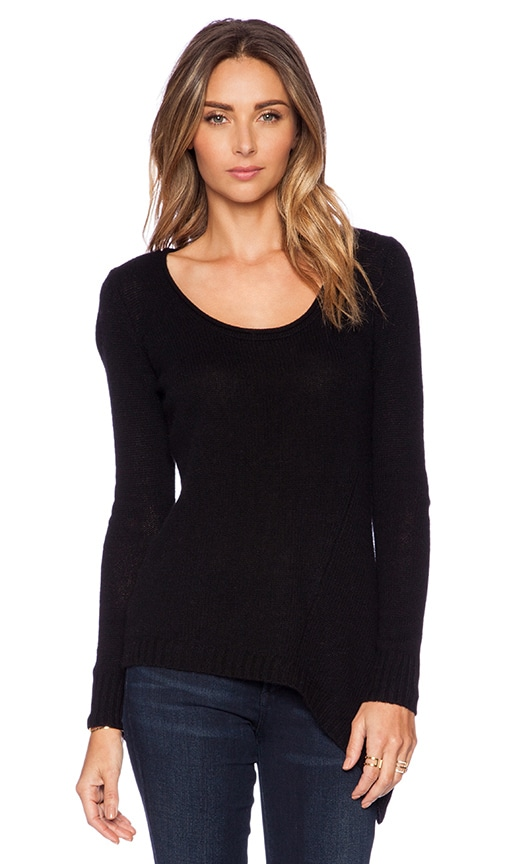 Asymmetric Scoop Neck Sweater