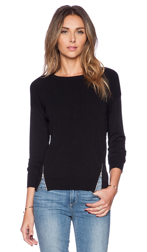 Zipper Texture Sweater