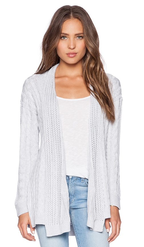 Autumn Cashmere Multi Stitch Sweater in Platinum
