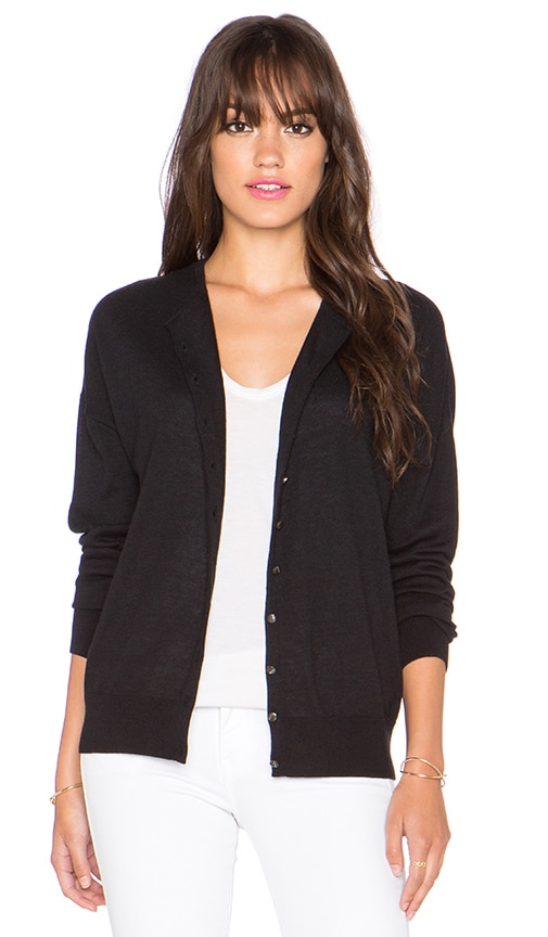 Autumn Cashmere Relaxed Cardigan in Black