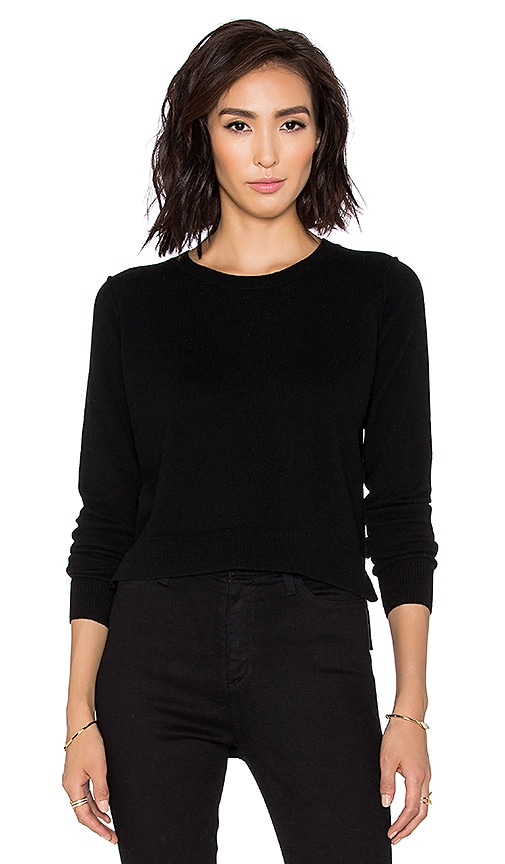 Autumn Cashmere Cropped Sweater in Black