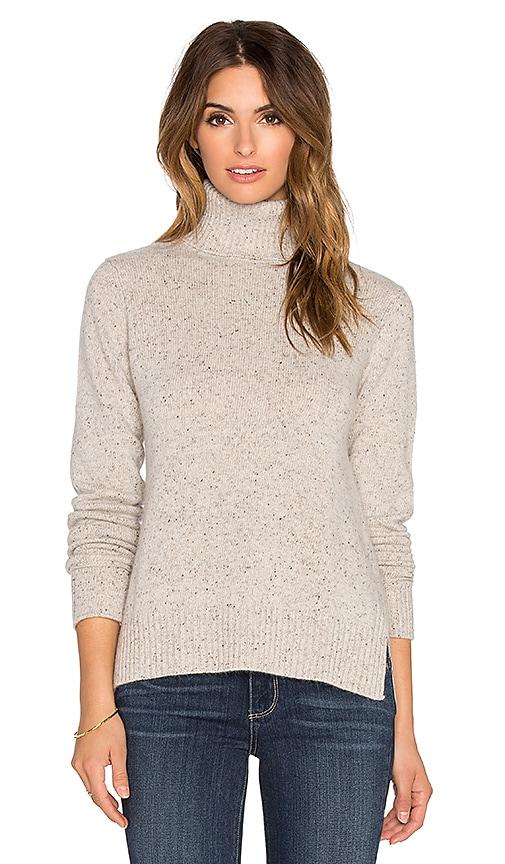 Boxy Slit Turtleneck Sweater
