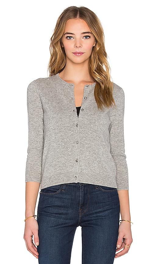 Autumn Cashmere 3/4 Sleeve Baby Cardigan in Sweatshirt